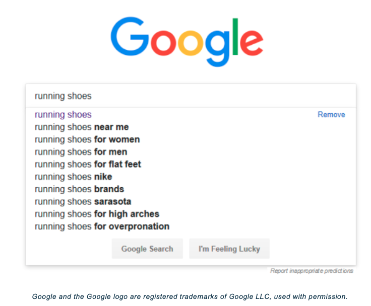Google autofill example
