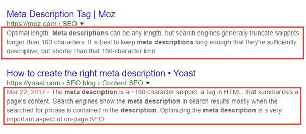 meta descriptation