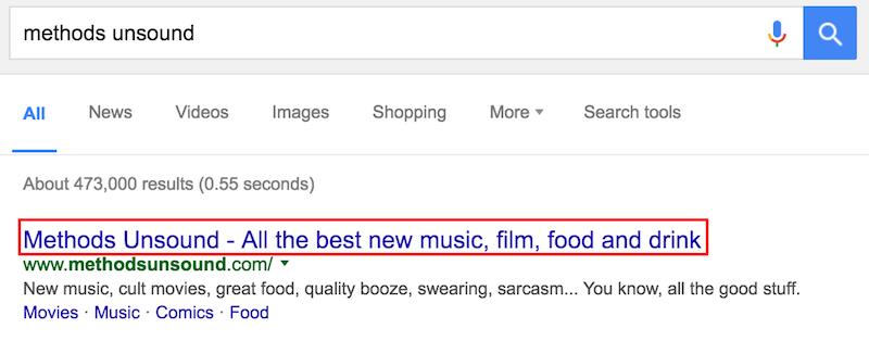methods unsound Google Search